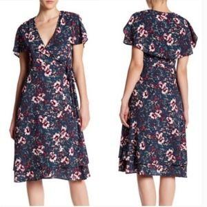 Spirit of Grace Moody Floral Wrap Dress XS